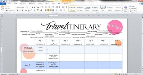 diy travel itinerary amp free printable the miami rose
