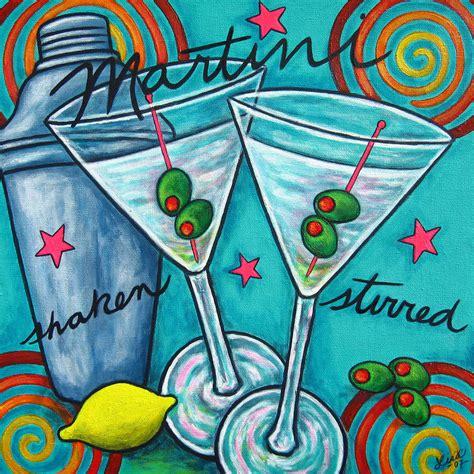 martini painting retro martini by lisa lorenz