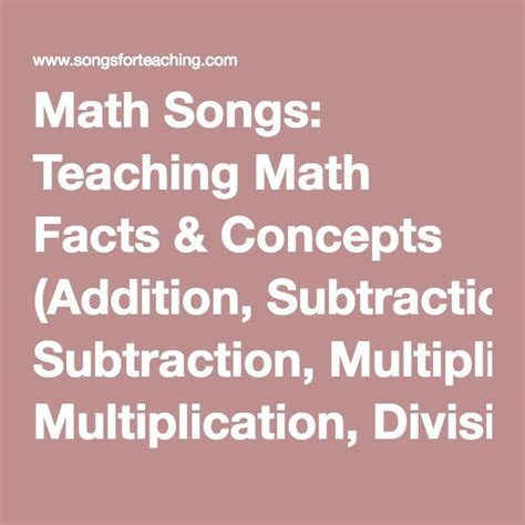 division best songs 17 best ideas about math songs on teaching
