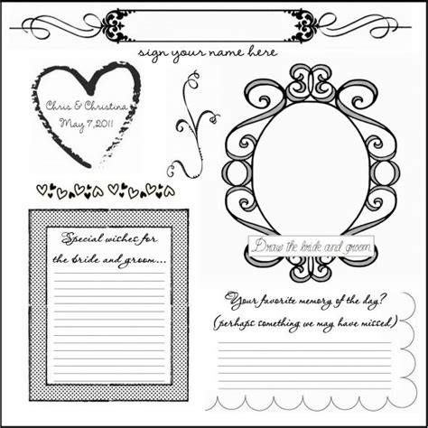 guest book cards template guestbook weddingbee
