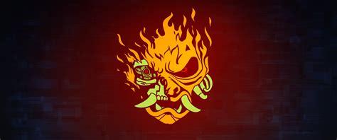 cyberpunk  samurai logo   wallpaper