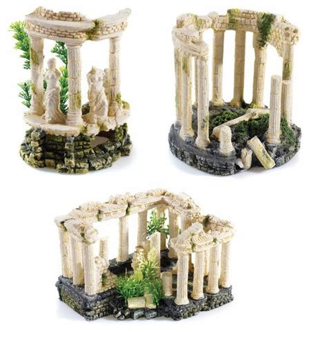 Details about Greek Roman Themed Ancient Ruins Aquarium