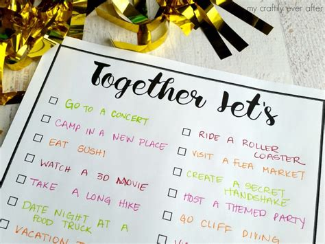 Christmas Crafts For Classroom - together let s printable bucket list my craftily ever after
