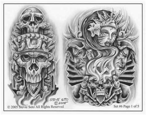 tattoo flash calendar chicano aztec tattoo designs clipart library