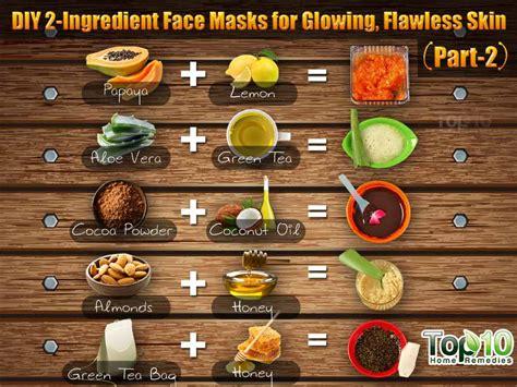 diy mask ingredients diy 2 ingredient masks for glowing flawless skin part 2 top 10 home remedies