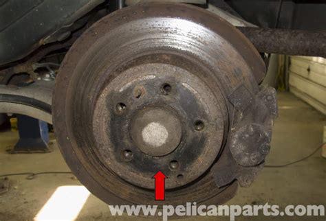 repair anti lock braking 1998 volvo v70 parking system volvo v70 rear wheel bearing fwd replacement 1998 2007 pelican parts diy maintenance article
