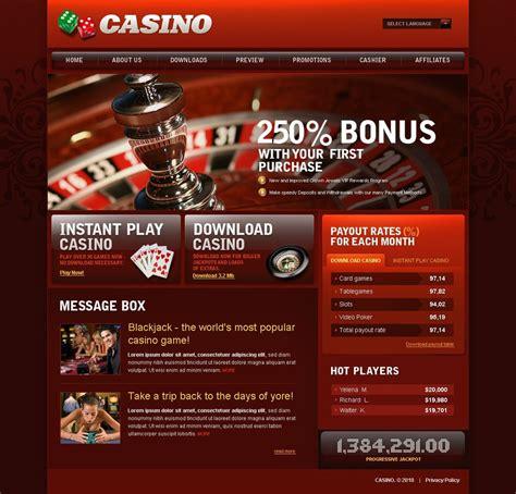 online casino website template 28854