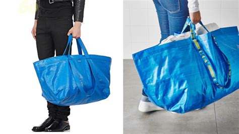 ikea shopping bags ikea just poked fun of balenciaga s blue lookalike bag