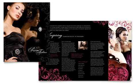 Brochure Design For Boutiques by Formal Fashions Jewelry Boutique Brochure Template Design