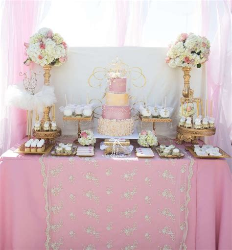 themes baptism party pink and gold baptism party ideas baptism party gold
