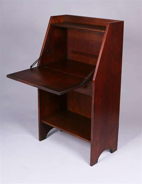 Stickley Drop Front Desk by Early Gustav Stickley Drop Front Desk C1902 California Historical Design