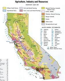 agriculture map of california