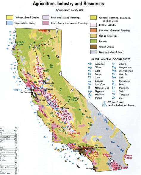 california map resources agriculture map of california