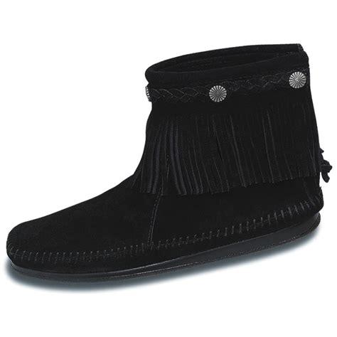 Atasan Tops Back Zipper Tekstur Woody Wedges s minnetonka hi top back zip boot 141686 casual shoes at sportsman s guide