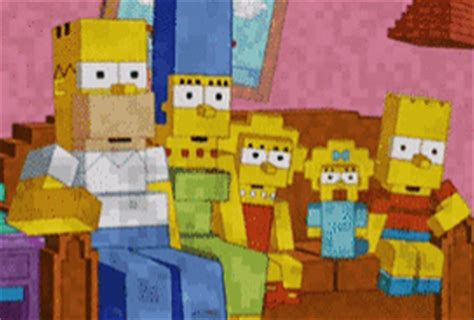 simpsons minecraft couch gag the simpsons does minecraft for couch gag paperblog