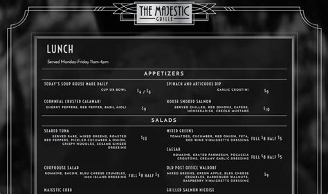 majestic new year menu majestic restaurant new year menu 28 images new year s