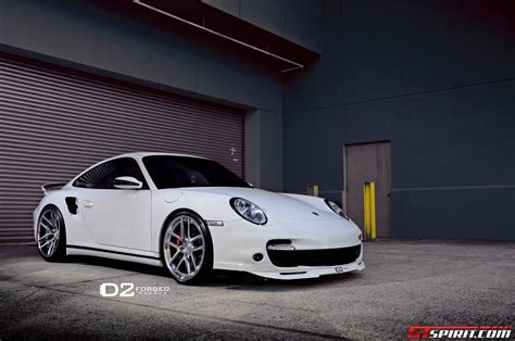porsche wheels white porsche 997 turbo lowered on d2forged wheels gtspirit