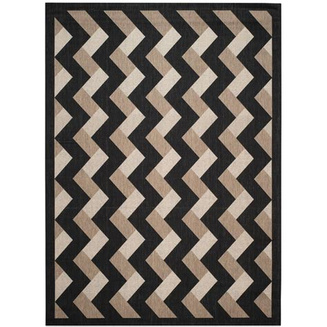 Black Indoor Outdoor Rug Safavieh Courtyard Sand Black 8 Ft X 11 Ft Indoor Outdoor Area Rug Cy2098 3901 8 The Home Depot