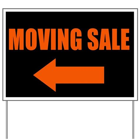Moving Sale At Makeupcom by Moving Sale Yard Sign By Onedaycreations