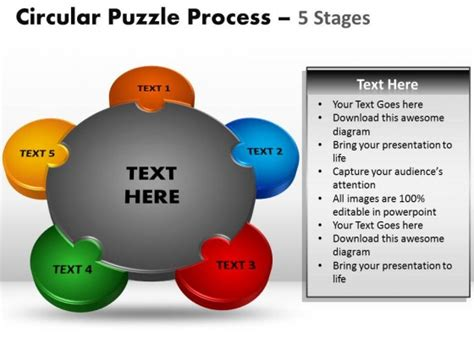 Powerpoint Template Download Circular Puzzle Process Ppt Powerpoint Templates Puzzle