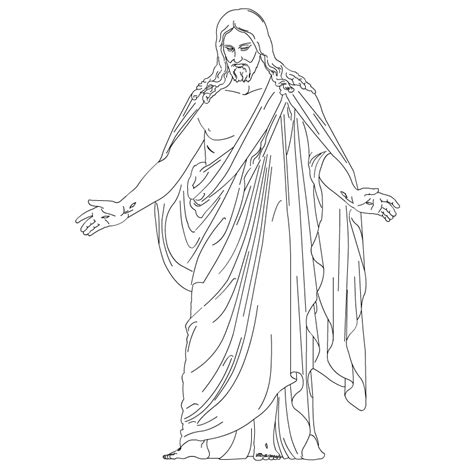 lds coloring pages of the savior clipart lds free