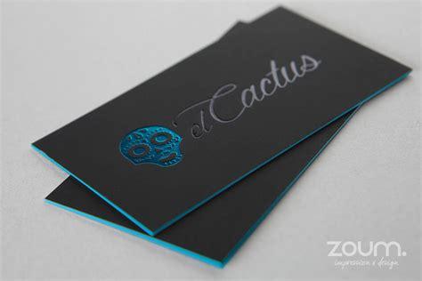 Foil Business Cards metallic foil sting by zoum