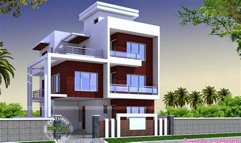 Exterior Home Design For Small House In India Glamorous Houses Designs By S I Consultants Home Design