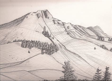 Sketches Mountains by Mountain Drawing By Holly6669666 On Deviantart