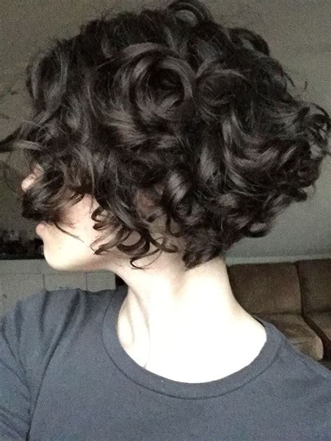 short bob hair style with curls at crown best 25 short curly hair ideas on pinterest short hair