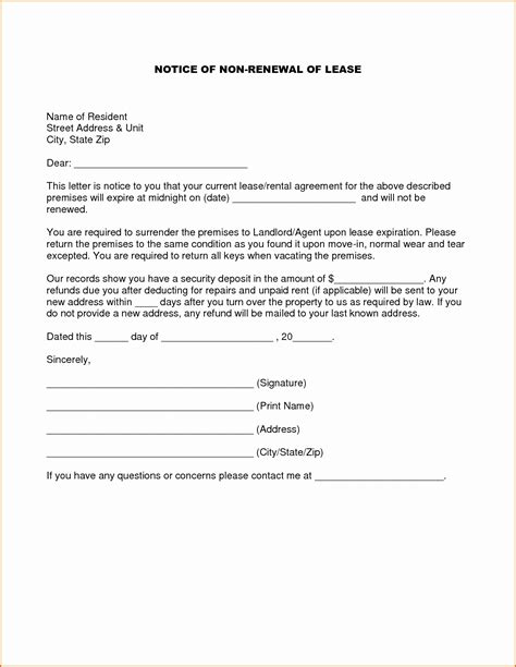 tenancy agreement renewal template tenancy agreement notice letter exle fresh lease