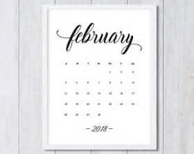 Calendar 2018 Etsy February 2018 Etsy