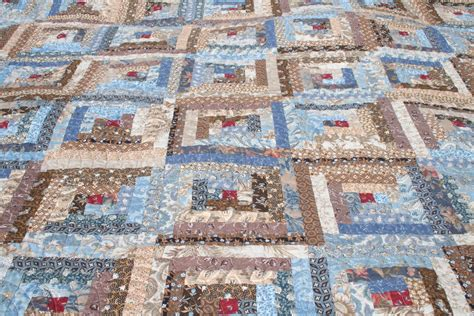 A Quilt For The Time by Aussie Quilting Log Cabin Quilt