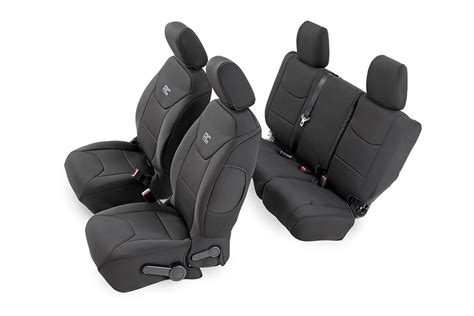 jeep wrangler unlimited seat covers 2013 black neoprene seat cover set for 2013 2017 jeep wrangler