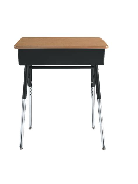 Classroom Select Traditional Open Front Desk Adjustable College Student Desks