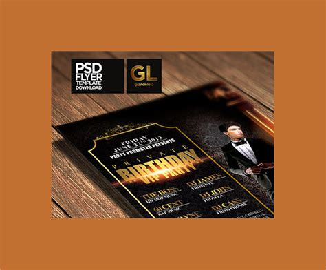 spectacular birthday flyer template 24 download
