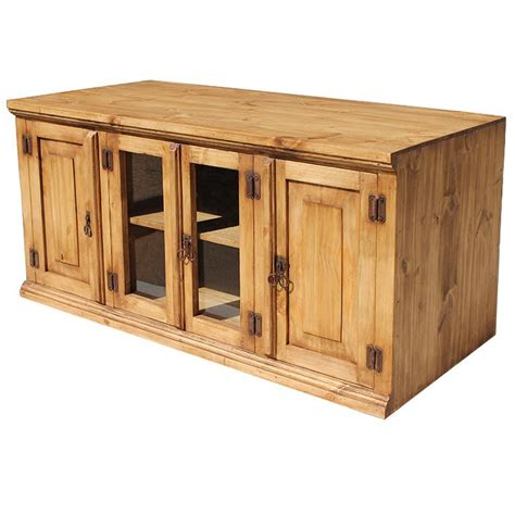 rustic pine collection santa tv stand com300