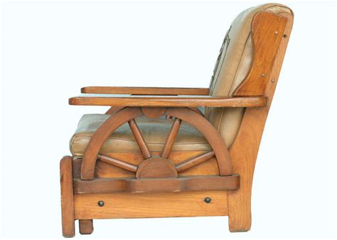 wagon wheel couch western style wagon wheel lounge chair circa 1950 at 1stdibs