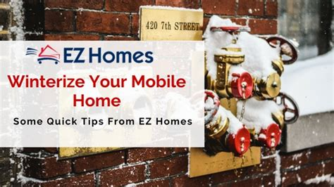 tips on winterizing your mobile home