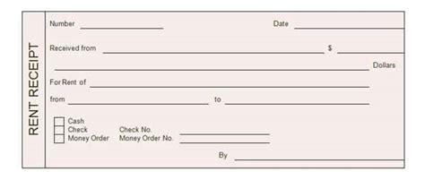 money rent receipt template rent receipt templates word excel formats