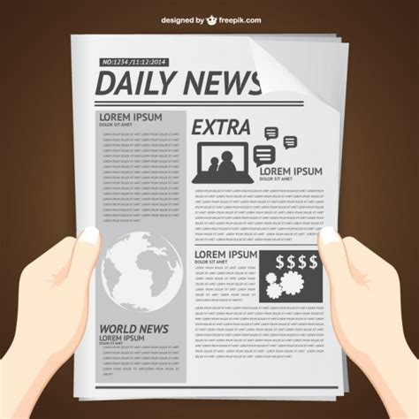 newspaper layout vector reading daily news vector vector free download