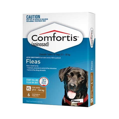comfortis for puppies comfortis for dogs 1620mg brown 6 pack