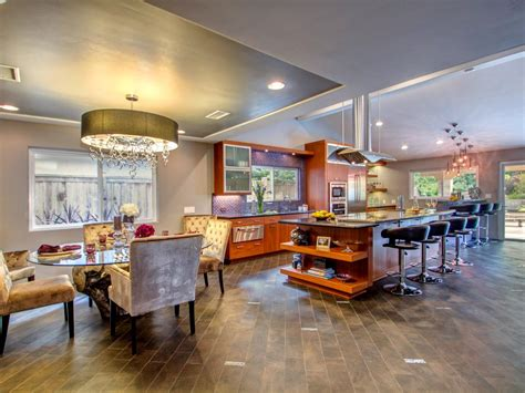 open floor plan kitchen renovation contemporary photo page hgtv
