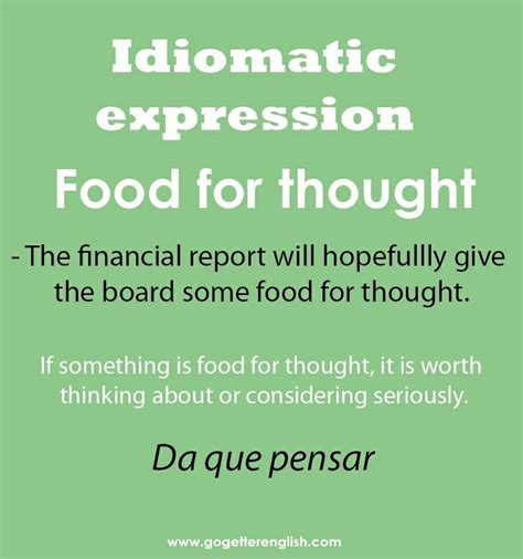 idiomatic expression food for thought repinned by chesapeake college ed we