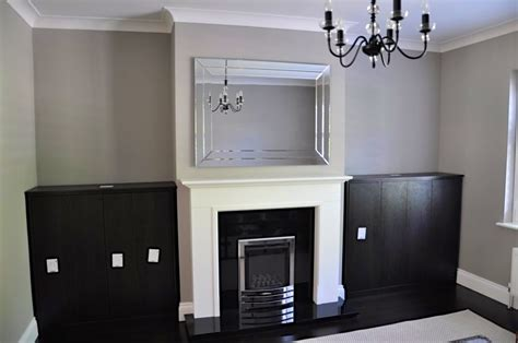 Living Room Alcove Cupboards by Living Room Alcove Cupboards In Black Brown Oak Diy