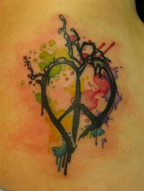 looking glass tattoo peace paint splatter by opal yelp