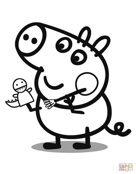 peppa pig george coloring pages george pig coloring page free printable coloring pages