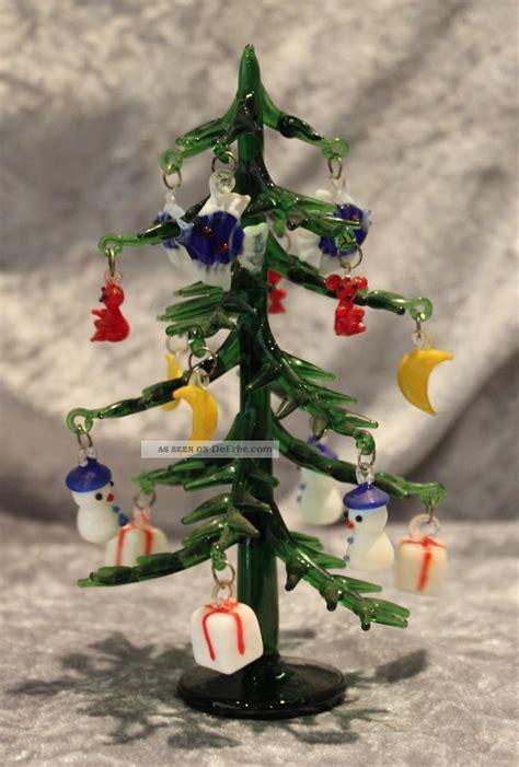 weihnachtsbaum kerzenhalter glas murano glas tannenbaum weihnachtsbaum mit anh 228 ngern