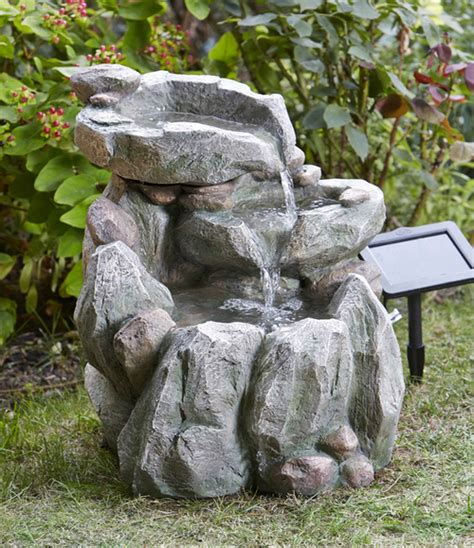 cm decorative rock fall solar powered water feature