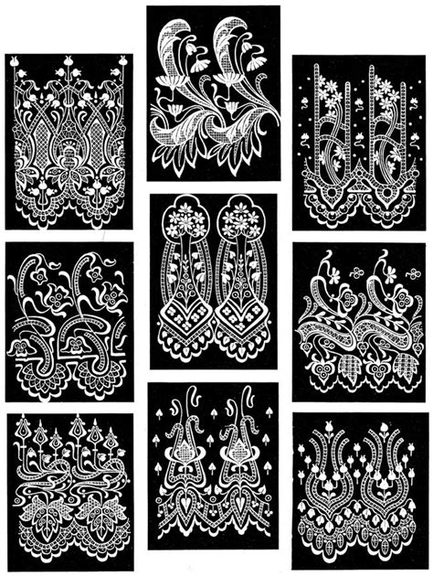 design pattern exle c pictorial archive of lace designs 325 historic exles