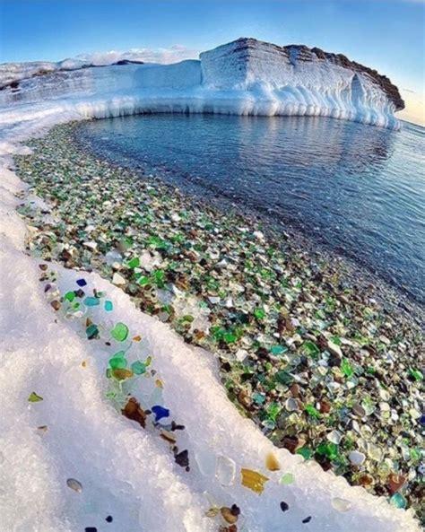 sea glass beach russia s sea glass beach sparkles in the sun